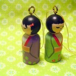 kokeshi wooden ornament