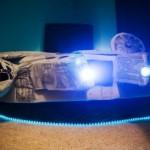 millenium falcon bed lit up