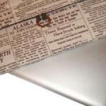 newspaper notebook sleeve