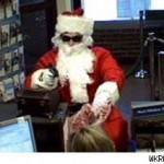 santa claus robbing bank