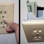 secret wall electric socket compartment