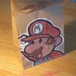 super mario bros lunch bag art