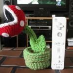 super mario piranha plant crochet doll