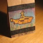 yellow submarine lunch bag art
