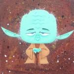 yoda artwork canvas
