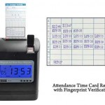 Attendence Time Card Recorder with Fingerprint Verification 3