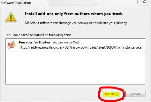 Install Firefox Personas (2)