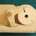 Wooden Combination Lock back view