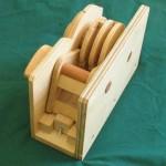 Wooden Combination Lock bar in slots