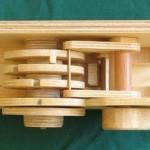 Wooden Combination Lock lock top
