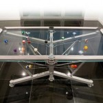 chic pool transparent table