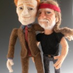 conan obrien willie nelson felt dolls