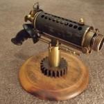 futuristic particle beam pistol