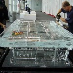 ice pool sculpted table