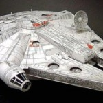 star wars millennium falcon papercraft model