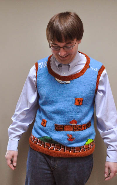 super mario bros sweater vest