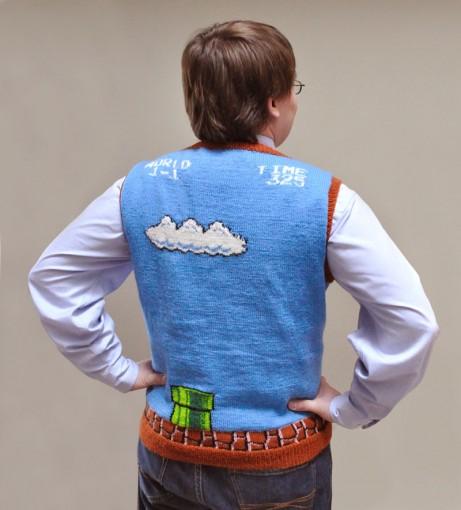 super mario bros sweater vest