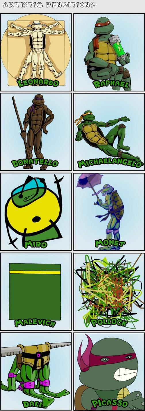 vitruvian man leonardo ninja turtle art