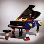 art cartoon piano
