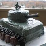 edible army tank cake