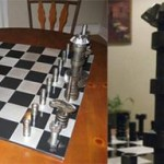funky used car chess set