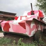 funny pink tank