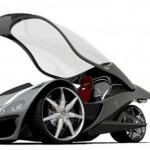 futuristic hawk car
