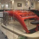 futuristic red piano
