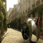 futuristic wheel rider