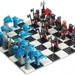 geeky lego knights kingdom chess set