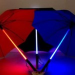 geeky star wars lightsaber umbrella