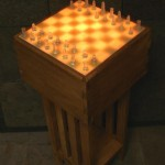 glowing accent chess set