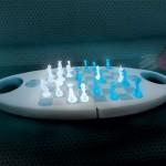 glowing chess board set