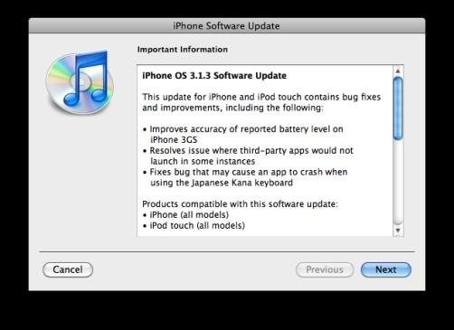 iphone 3.1.3 os update