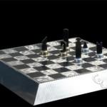 luxurious carbon fiber chess set