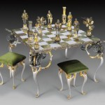 opulent medieval chess set