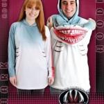 shark mouth hoodie shirt