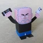 steve jobs papercraft toy birthday