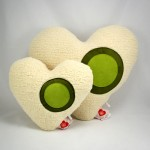 vibrating heart stress relief pillow