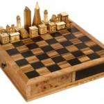 wooden steve vigar chess set