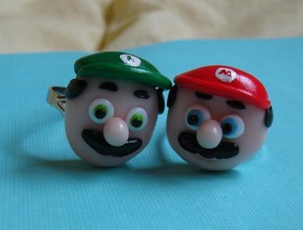 Mario and Luigi Rings (2)