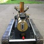 RC steamtank on road