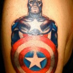 comic book tattoo captain america1