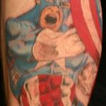 comic book tattoo captain america2