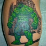 comic book tattoo hulk1