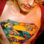 comic book tattoo superman1