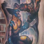 comic book tattoo wolverine