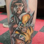 comic book tattoo wolverine gambit