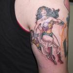 comic book tattoo wonder woman1
