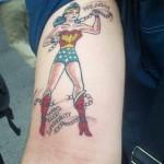 comic book tattoo wonder woman2
